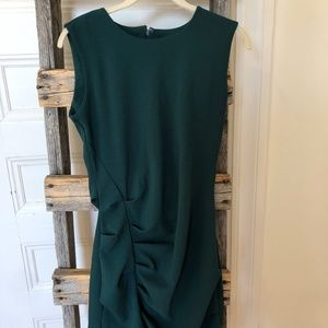 DYNAMITE Green Ruched Fitted Mini Dress